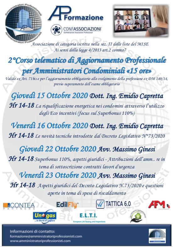 corso dm 140/2014 22 e 23 ottobre 2020