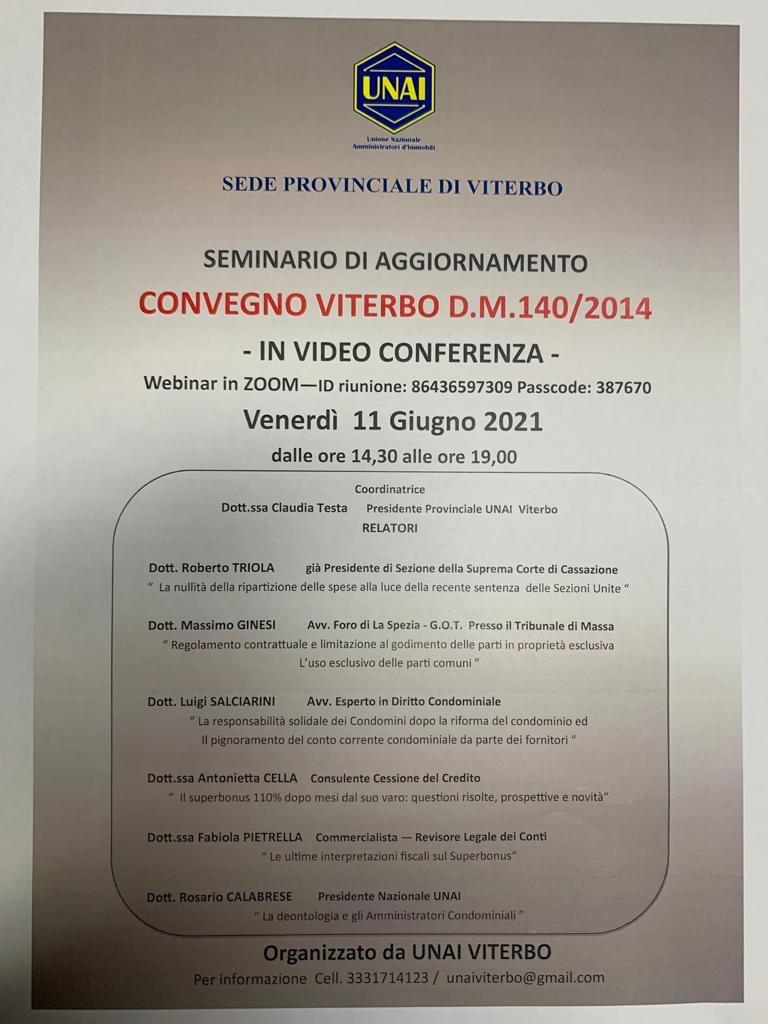 convegno Viterbo 11 giugno 2021